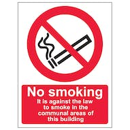 No Smoking In Communal Area - Portrait