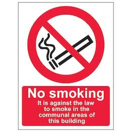 No Smoking In Communal Area - Portrait