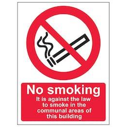 Eco-Friendly No Smoking In Communal Area - Portrait
