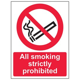 All Smoking Strictly Prohibited - Portrait