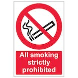 All Smoking Is Strictly Prohibited - Portrait