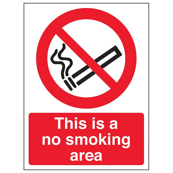 This Is A No Smoking Area - Window Sticker