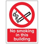 No Smoking In this Building - Portrait