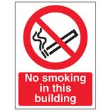 Eco-Friendly No Smoking In this Building - Portrait