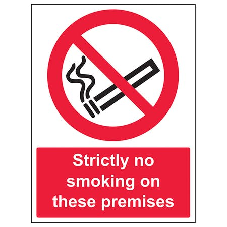 Strictly No Smoking On These Premises - Portrait