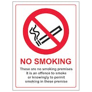 No Smoking - These Are No Smoking Premises