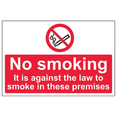 It Is Against The Law To Smoke In These Premises - Large Landscape