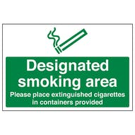 Designated Smoking Area - Extinguished Cigarettes