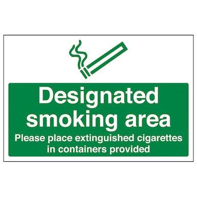 Designated Smoking Area - Extinguished Cigarettes