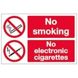 No Smoking No Electronic Cigarettes - Polycarbonate