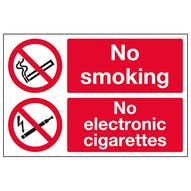 No Smoking No Electronic Cigarettes