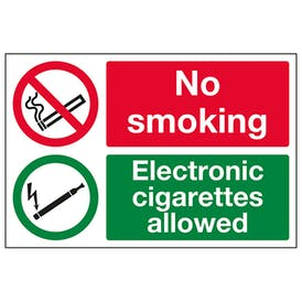 No Smoking Electronic Cigarettes Allowed
