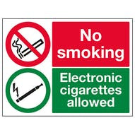No Smoking Electronic Cigarettes Allowed