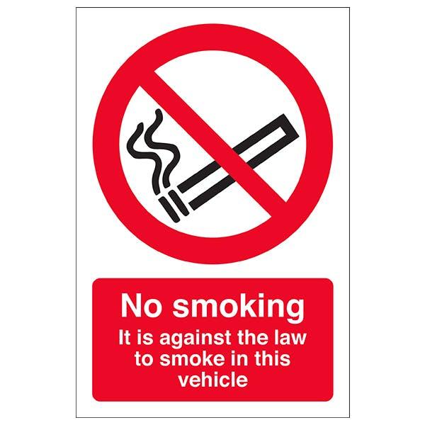 No Smoking - Vehicle Window Sticker