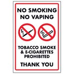 No Smoking No Vaping Tobacco Smoke & E-Cigarettes Prohib...