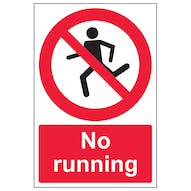 No Running With Man - Portrait