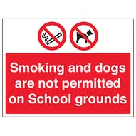 Smoking And Dogs Not Permitted On School Grounds