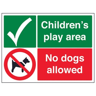 Childrens Play Area, No Dogs Allowed