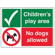 Children's Play Area - No Dogs Allowed