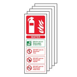 5-Pack Water Fire Extinguisher