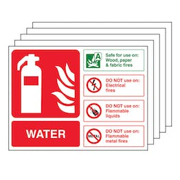 5-Pack Water Fire Extinguisher - Landscape