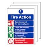5-Pack GITD Fire Action  - Do Not Take Risks