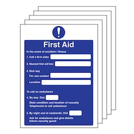 5-Pack First Aid Action Notice
