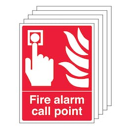 5-Pack Fire Alarm Call Point - Portrait