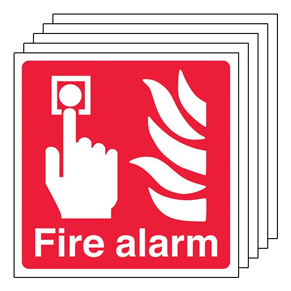 5-Pack Fire Alarm - Square