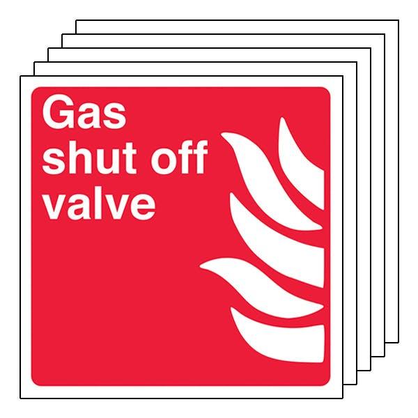5-Pack Gas Shut Off Valve - Square