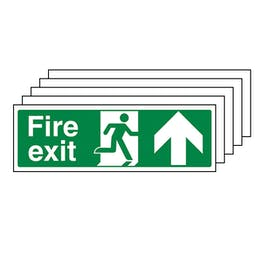 5-Pack Fire Exit Arrow Up