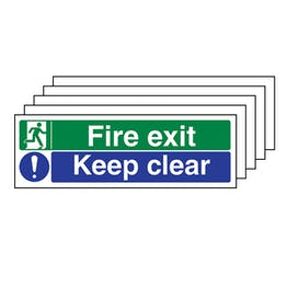 5-Pack Fire Exit / Keep Clear