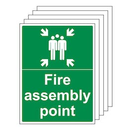 5-Pack Fire Assembly Point with Family - Portrait