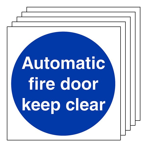 5-Pack Automatic Fire Door Keep Clear