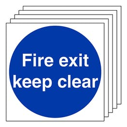 5-Pack Fire Exit Keep Clear