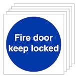 5-Pack Fire Door Keep Locked