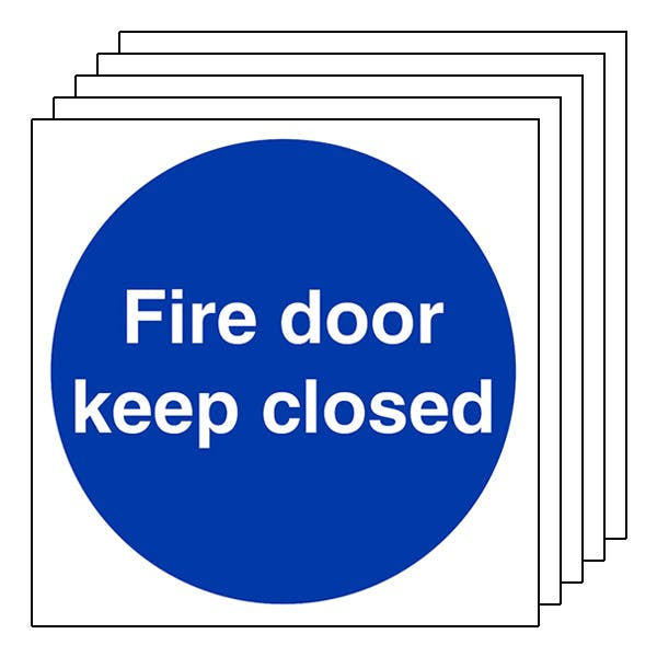 5-Pack Fire Door Keep Closed