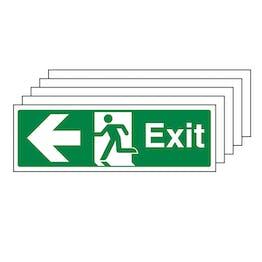 5-Pack Exit Arrow Left - Landscape