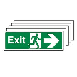 5-Pack Exit Arrow Right - Landscape