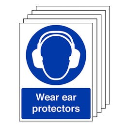 5-Pack Wear Ear Protectors - Portrait