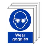 5-Pack Wear Goggles - Portrait