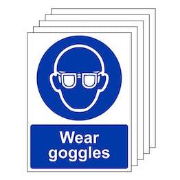 5-Pack Wear Goggles - Portrait