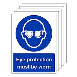 5-Pack Eye Protection Must Be Worn - Portrait