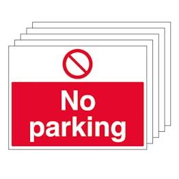 5-Pack No Parking - Large Landscape