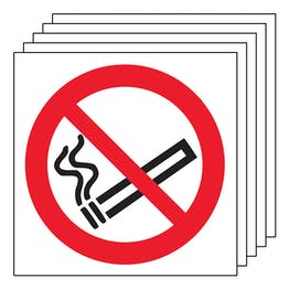 5-Pack No Smoking Symbol