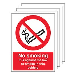 5-Pack No Smoking - Vehicle Sticker