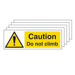 5-Pack Caution Do Not Climb - Landscape