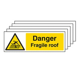 5-Pack Danger Fragile Roof - Landscape