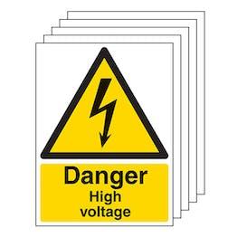 5-Pack Danger High Voltage - Portrait