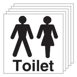5-Pack Unisex Toilet